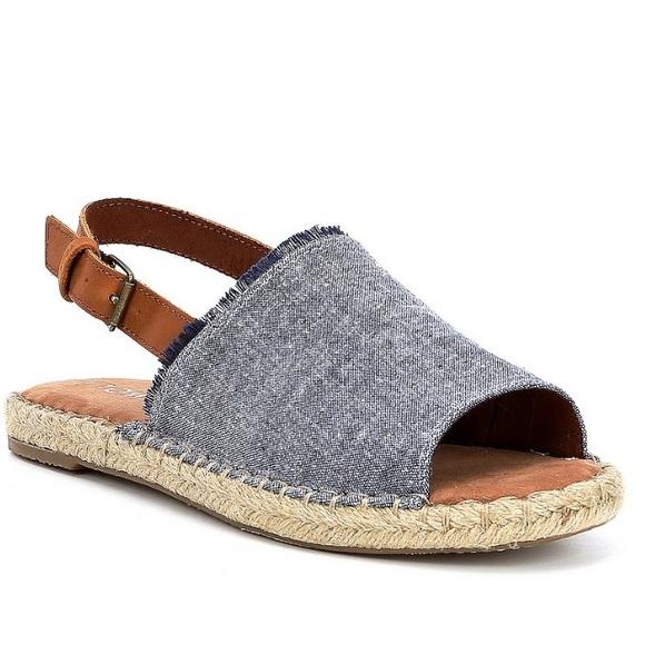 5b8052a0f92 Toms Clara Chambray Espadrilles Sandals